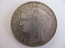 monnaie : 5 francs 1870K sans légende M à 12h  -  très rare - départ : 160 euros