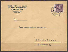 Checoslovaquia/Eslovaquia. 1934. Local Commercial Cubierta. papel/pulpa. Sklad Tov