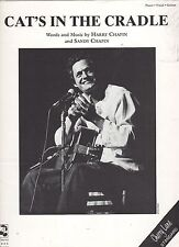 Harry Chapin  Cat's In The Cradle Reprint  US Sheet Music