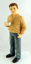 Dolls House Miniature 1:12 Scale People Modern Resin Man Figure Drinking Tea