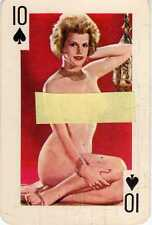10 DIECI di Picche Gaiety Brand 54 Nude Models Color  Playing Cards 1960's
