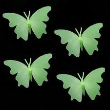 4X Glow in the Dark 3D Butterflies Stickers Kids #A Ceiling Wall Room Nursery