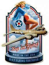 Made In the USA / Pin Up Plasma Cut Metal Sign Greg Hildebrandt