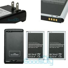 2x 3200mAh Battery Replacement+Wall Charger for Samsung Galaxy Note3 N9000 N9005
