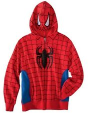 MARVEL SPIDERMAN JACKET ZIP UP HOODIE MASK HOOD NWT YOUTH BOYS SIZE LARGE 12-14
