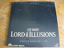 CLIVE BARKER'S LORD OF ILLUSIONS LASERDISC TESTED VG+ ML105294 HORROR LETTERBOX