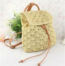 Women Fashion Beach Vacation Straw Bag Tote Shoulder Bag Backpack WBG895