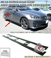 06-13 Lexus IS250 IS350 Side Skirts Add-on Extension Splitters (Urethane)