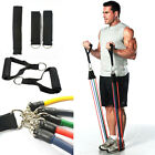 11PC Set Exercise Resistance Bands Yoga Fitness Workout Stretch Heavy Duty Tubes