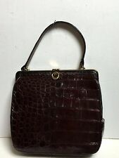 Vintage 1960's Bellestone Alligator Kelly Style Purse/Handbag