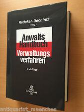 Redeker-Uechtritz ANWALTHANDBUCH Handbuch VERWALTUNGSVERFAHREN AKTUELLE 2. Aufl.
