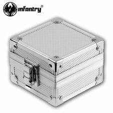 INFANTRY Silver Aluminum Watch Box Jewelry Holder Present Gift Box Case Display