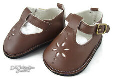 """Brown T-Strap Shoes made for 18"""" American Girl Doll Clothes Top Quality"""
