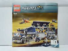 LEGO AGENTS #8635 Mission 6 Mobile Command Center INSTRUCTION MANUAL 1 MISPRINT