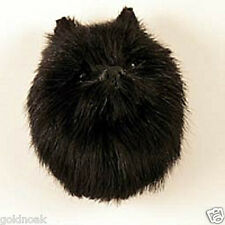 (1) BLACK POMERANIAN DOG MAGNET! Very realistic collectible fur refrig. Magnets.