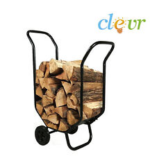 NEW Log Caddy Firewood Wood Carrier Fireplace Holder Fire Cart Rack Garden