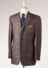 NWT $1445 CORNELIANI Chocolate Brown Melange Wool-Silk Sport Coat 40 R Dual Vent