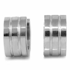 High Polished Top Grade Stainless Steel Round Hinged Hoop Huggie Earrings 12Mm