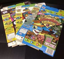 SET 3 box Neopets ISLANDBERRY CRUNCH Cereal Cocoa Puffs CINNAMON Toast Crunch