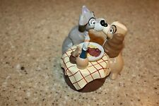 Disney Store Classics Lady and the Tramp Figure spaghetti Kissing Hard Plastic