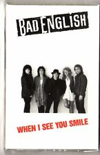 BAD ENGLISH - When I See You Smile / Rockin' Horse ** Sealed Cassette Single