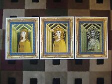 Vintage Disney (Mansion Medusa Paintings) Collector's Poster Prints ( Set of 3 )