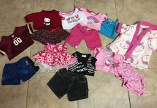 Lot Of 14 Items Build A Bear Clothes Skirt, Shorts, Shirts, PJ's, Robe, Dress