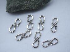 10pcs Antique Silver Hook Clasp Bracelet Accessory Connector