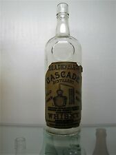 1915 Antique DICKEL CASCADE Distillery WHISKY BOTTLE Almost FULL LABEL