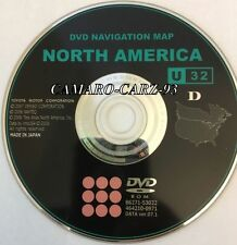 DVD Navigation Map North America Toyota Lexus OEM U32 DATA Ver 07.1 86271-53022