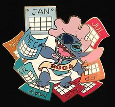 DISNEY PIN DISNEY AUCTIONS P.I.N.S. STITCH CALENDAR BABY NEW YEAR 2004 RARE HTF