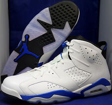 Nike Air Jordan 6 VI Retro White Sport Blue Black SZ 17 ( 384664-107 )
