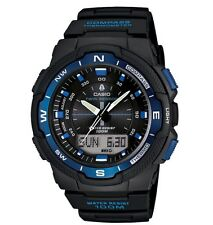 Casio Watch * SGW500H-2B Twin Sensor Digital Compass Black & Blue COD PayPal