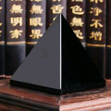 Natural Reiki Energy Charged Black Obsidian Pyramid Crystal Protective Healing .