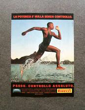 [GCG] L232- Advertising Pubblicità -1997- PIRELLI P 6000 , CONTROLLO ASSOLUTO