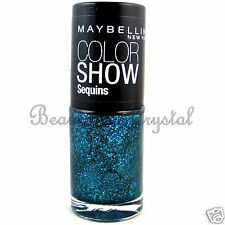 Maybelline Color Show Nail Lacquer Polish Sequins- SEA-QUINS #820 Teal Glitter