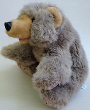 Folkmanis Grizzly Bear Cub Plush Hand Puppet 15in Full Body Paw Prints Pads Cute