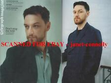 JAMES McAVOY~ VIVIANE SASSEN Telegraph Mag (9 March 2013)