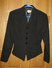 Womens Size 8 Blazer Black Lined Button Front Business Career Attire