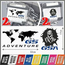 4x BMW KIT World R1200GS ADVENTURE + DAKAR GSA blue Motorrad ADESIVI PEGATINA