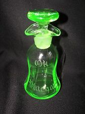 Cambridge #1263 Light Emerald Green Oil & Vinegar French Dressing Bottle