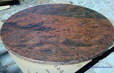 runde Tischplatte Marmor Granit Naturstein rot Steinplatte Platte Multicolor RED