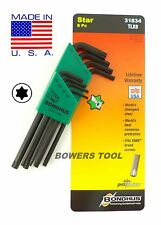 Bondhus 8pc Torx Star L Wrench Set T9-T40 MADE IN USA 31834 ProGuard Protanium