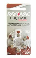 60 Rayovac Hearing Aid Batteries Size 312 Made in USA