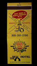 Vintage Quality Inn The High Hotel Matchbook Matches