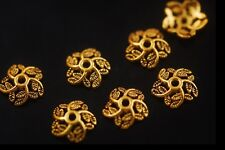 Loose 100pcs Gold Bead End Caps Stopper Spacer Jewelry Making Findings 10.5x3mm