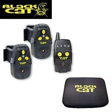 Black Cat Funkbissanzeiger Set (2 Bissanzeiger + 1 Receiver) zum Wallerangeln