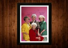 La golden Girls CAST BEA Arthur firmato PP Incorniciato A4 idee regalo retrò TV CARTOON