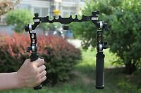 Pro 15mm/19mm universal handle grip  clamp Rail Clamp Arm Support rig DSLR BMCC