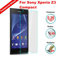 100% Genuine Tempered Glass Screen Protector Cover For Sony Xperia Z3 Compact